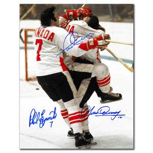 Paul Henderson, Phil Esposito & Yvan Cournoyer Team Canada Autographed 11x14
