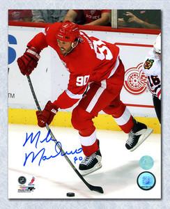 Mike Modano Detroit Red Wings Autographed Final Season 8x10 Photo *Dallas Stars*