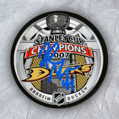 ROB NIEDERMAYER Anaheim Ducks SIGNED 07 Cup Puck
