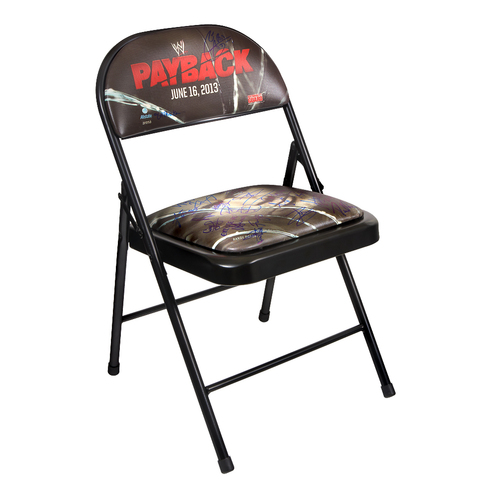 WWE Payback 2013 SIGNED Event Chair