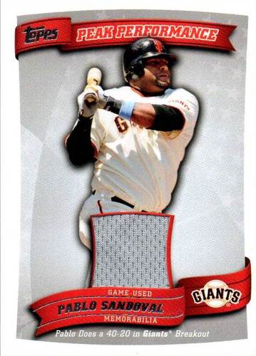 Photo of 2010 Topps Peak Performance Relics #PS Pablo Sandoval EXCH Jersey