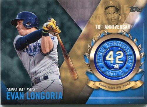 Photo of 2017 Topps Jackie Robinson Logo Patches #JRPCEL Evan Longoria