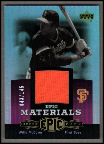 Photo of 2006 Upper Deck Epic Materials Light Purple #WM3 Willie McCovey Jsy/145