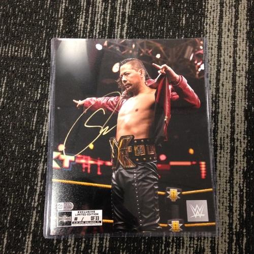 Photo of Shinsuke Nakamura SIGNED 8 x 10 Limited Edition WrestleMania 33 Photo (#1 of 33) (w/ Title)