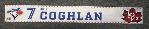 Photo of Authenticated Game Used Locker Name Plate - #7 Chris Coghlan (2017 Regular Season)