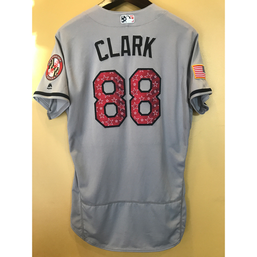 Photo of Howie Clark - 2017 4th of July Road Jersey: Game-Used