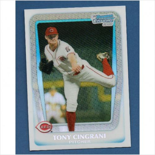 Photo of 2011 Bowman Chrome Draft Prospects Refractors #BDPP28 Tony Cingrani -- Dodgers post-season