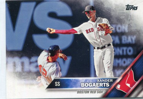 Photo of 2016 Topps #368B Xander Bogaerts SP/42 jersey/Fielding