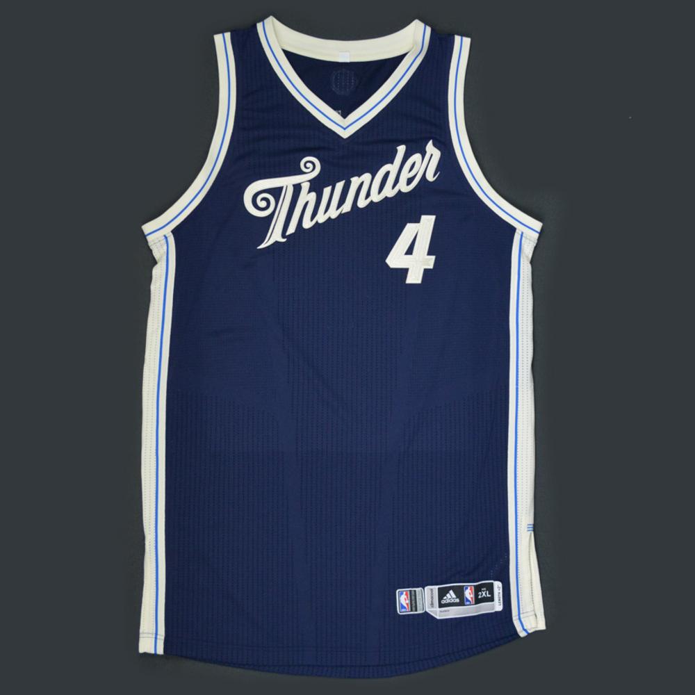 Nick Collison - Oklahoma City Thunder - Game-Worn Jersey - NBA ...