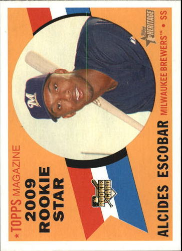 Photo of 2009 Topps Heritage #143 Alcides Escobar RC