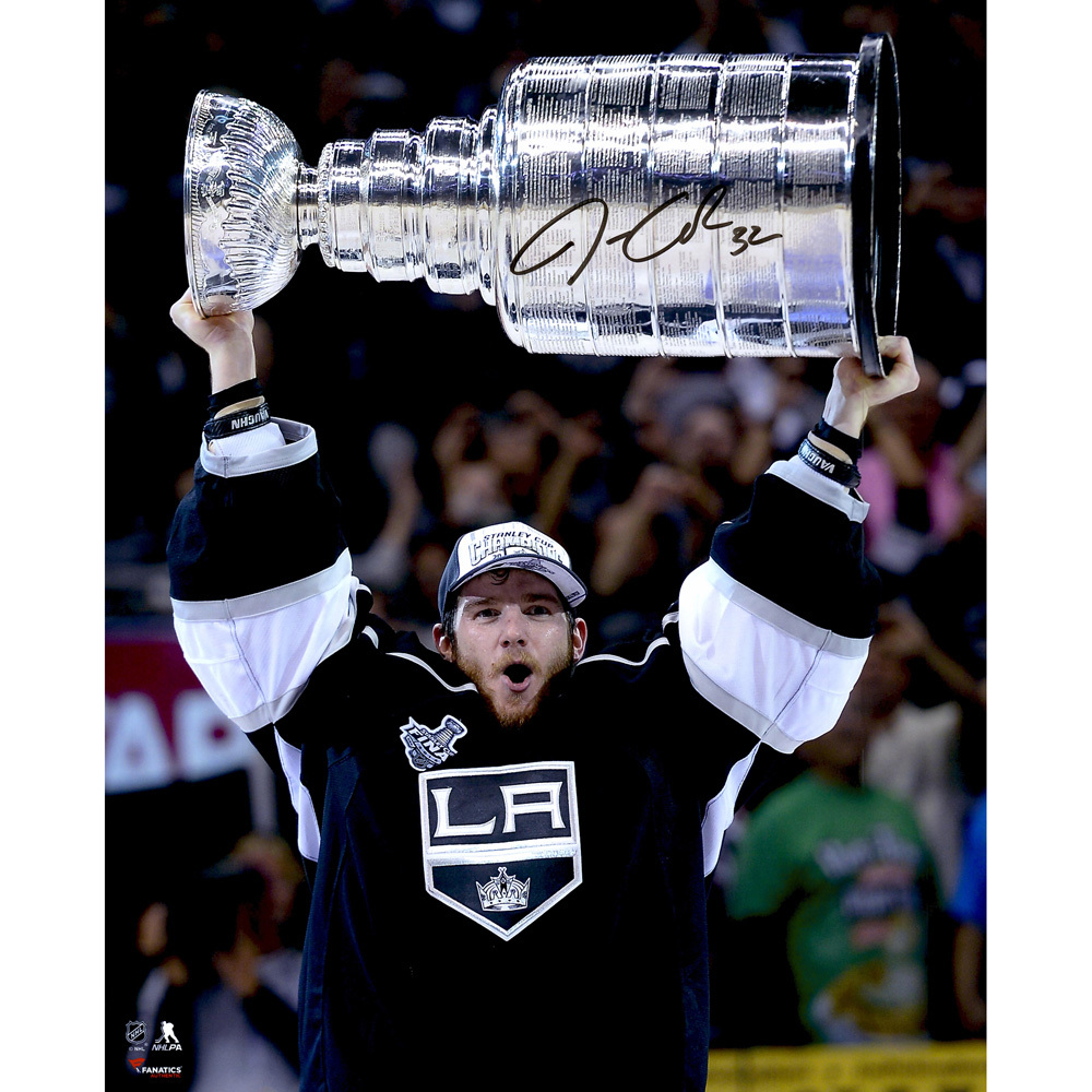 Jonathan Quick Los Angeles Kings Autographed Raising Cup 16