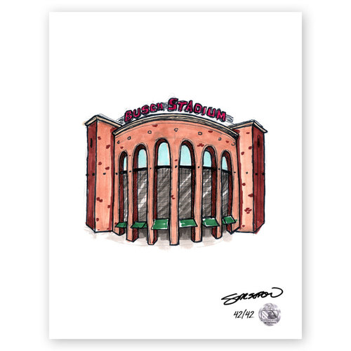 Photo of Busch Stadium Sketch - Limited Edition Print 42/42 by S. Preston