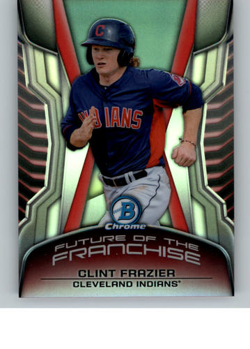 Photo of 2014 Bowman Chrome Draft Future of the Franchise Mini  Clint Frazier -- Yankees post-season