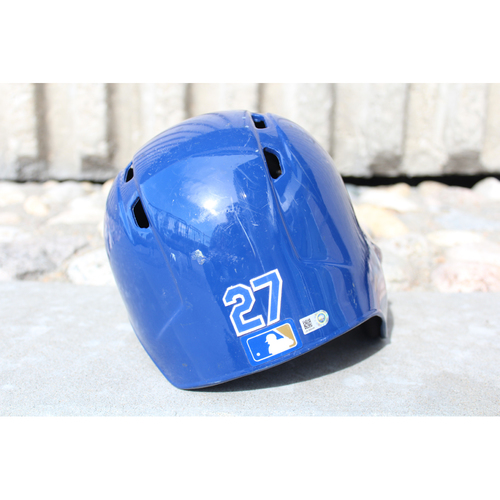 Photo of Game-Used Helmet: Raul Mondesi (Size 7 3/8 - ARI at KC - 10/1/17)