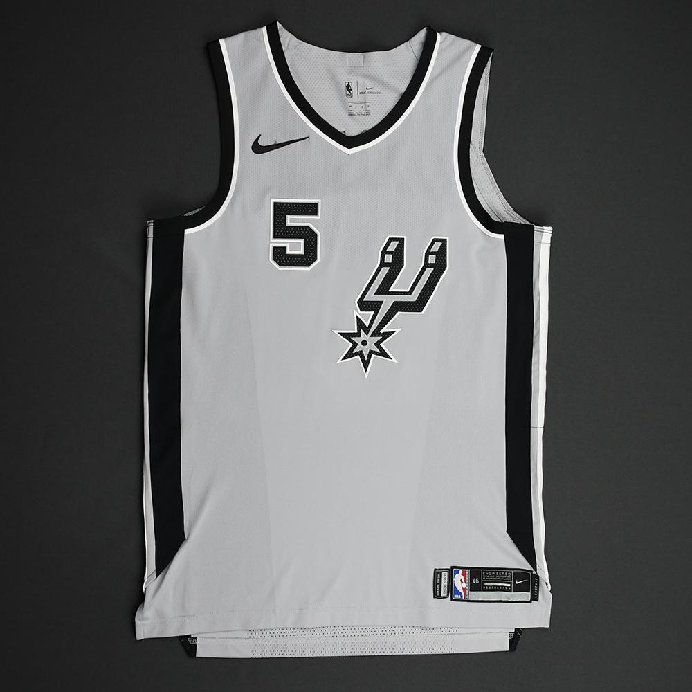 Dejounte Murray - San Antonio Spurs - Statement Game-Worn Jersey - Worn During 2 Games - 2017-18 Season