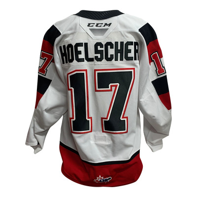 #17 Mitchell Hoelscher 67s Game Worn Home Jersey