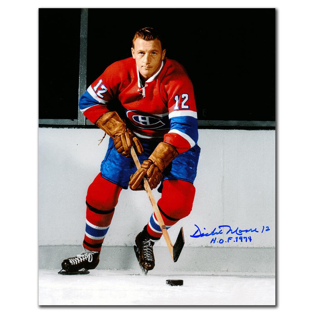 Dickie Moore Montreal Canadiens HOF Autographed 8x10