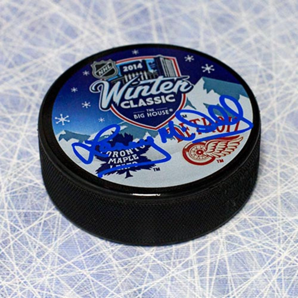 Lanny McDonald Toronto Maple Leafs Autographed 2014 Heritage Classic Puck