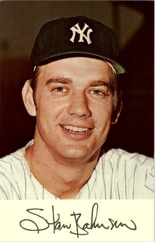 Photo of 1971 Yankees Clinic Day Postcards #1 Stan Bahnsen
