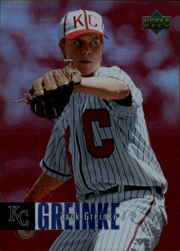 Photo of 2006 Upper Deck Special F/X Red #235 Zack Greinke /50