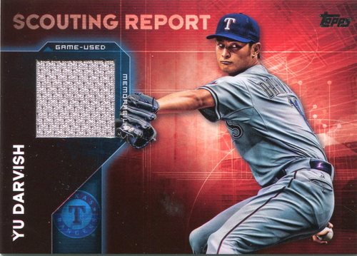 Photo of 2016 Topps Scouting Report Relics #SRRYD Yu Darvish