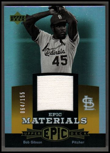Photo of 2006 Upper Deck Epic Materials Orange #BG Bob Gibson Jsy/155
