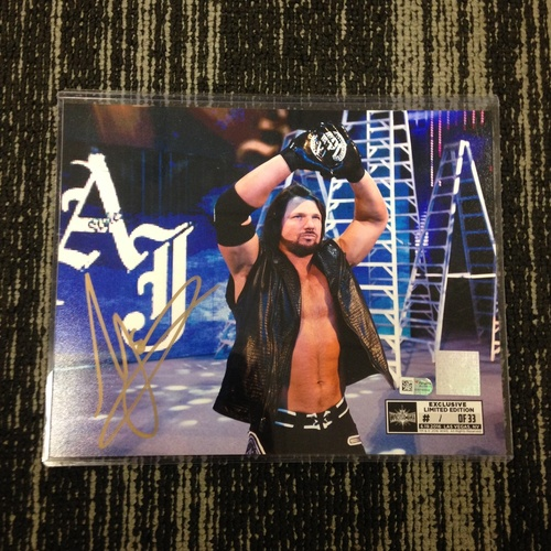 Photo of AJ Styles SIGNED 8 x 10 Limited Edition WrestleMania 33 Photo (#1 of 33)