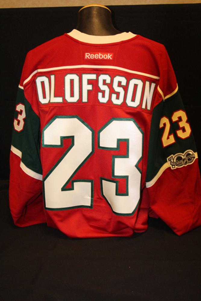 Authentic #23 Gustav Olofsson Jersey
