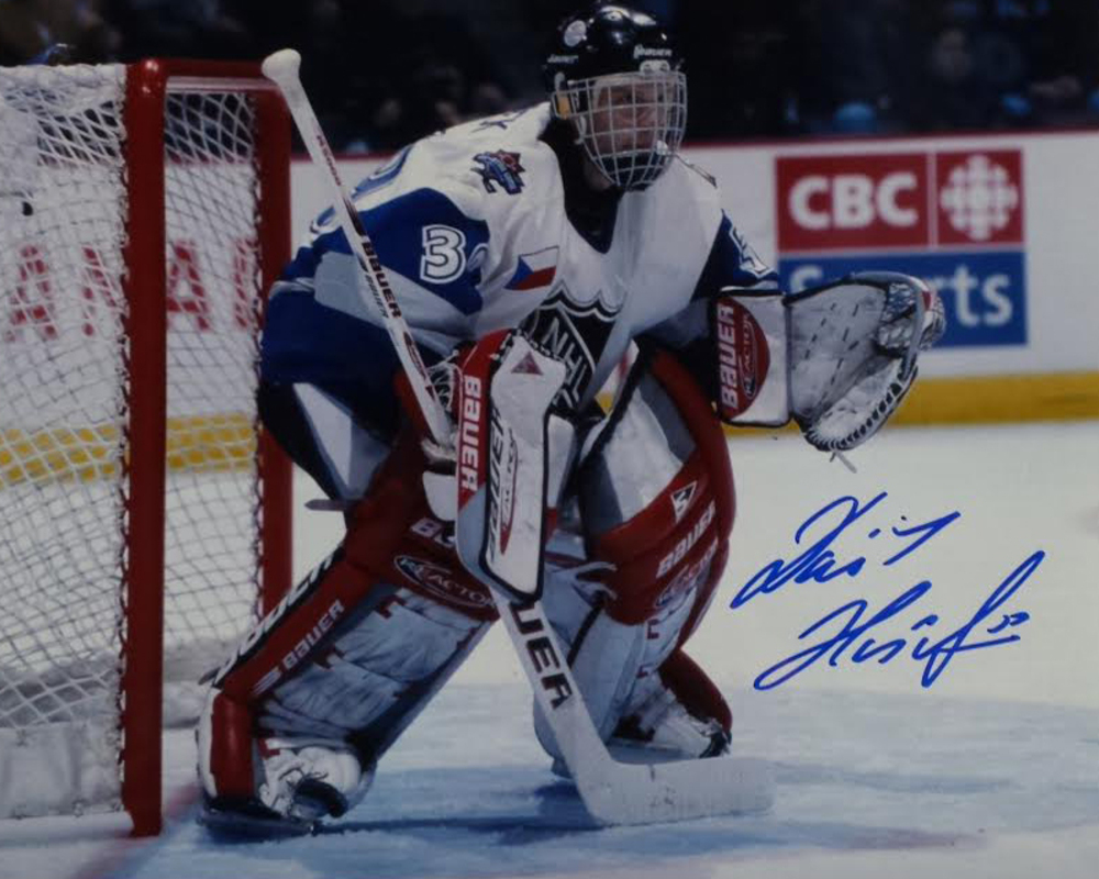 Dominik Hasek autographed 8x10 All Star photo