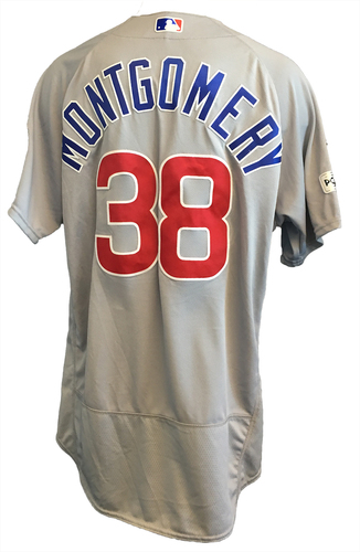 Mike Montgomery Game-Used Jersey -- NLDS Game 2 -- Cubs at Nationals -- 10/7/17