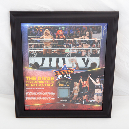 Photo of Team PCB SIGNED SummerSlam Commemorative Ring Canvas Plaque (#5 of 5)