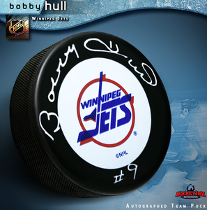 BOBBY HULL Signed Winnipeg Jets Puck