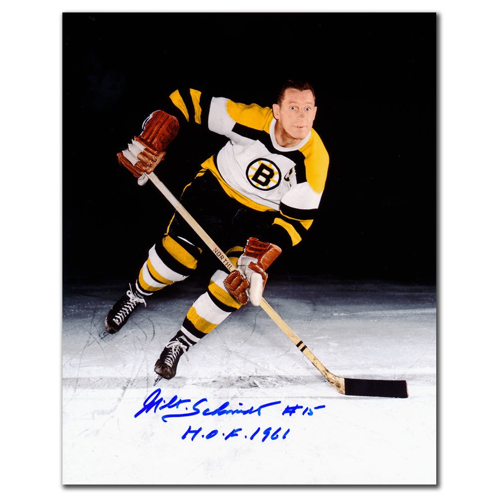 Milt Schmidt Boston Bruins Autographed 8x10