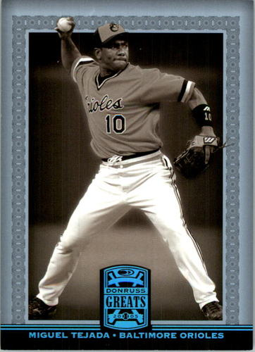 Photo of 2005 Donruss Greats Platinum HoloFoil #130 Miguel Tejada