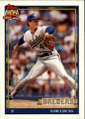 Photo of 1991 Topps #118 Tom Edens RC