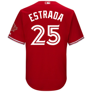 Toronto Blue Jays Cool Base Replica Marco Estrada Alternate Red Jersey by Majestic