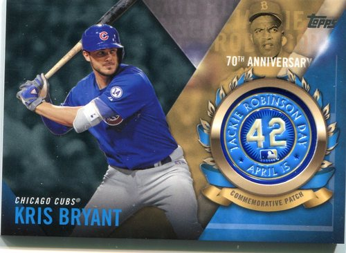 Photo of 2017 Topps Jackie Robinson Logo Patches #JRPCKB Kris Bryant