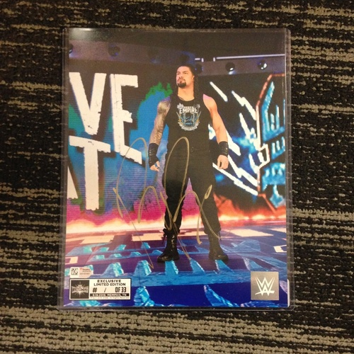 Photo of Roman Reigns SIGNED 8 x 10 Limited Edition WrestleMania 33 Photo (#1 of 33)