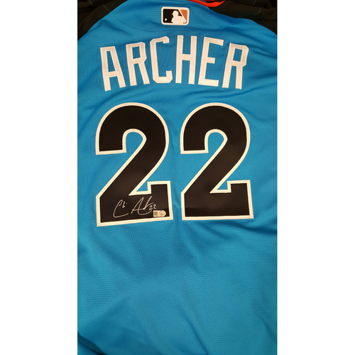 Photo of Chris Archer 2017 Major League Baseball Workout Day/Home Run Derby Autographed Jersey