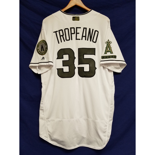 Photo of Nick Tropeano 2017 Team-Issued Home Memorial Day Jersey