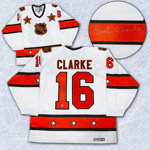 Bobby Clarke NHL All Star Game Autographed 1974 Retro CCM Hockey Jersey *Philadelphia Flyers*