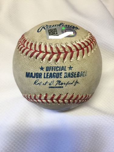 Photo of Game-Used Baseball from Game in Which Jose Abreu Became 2nd Player in MLB History with 30 HR & 100 RBI in First Two Seasons