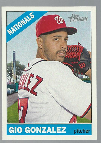 Photo of 2015 Topps Heritage #181 Gio Gonzalez