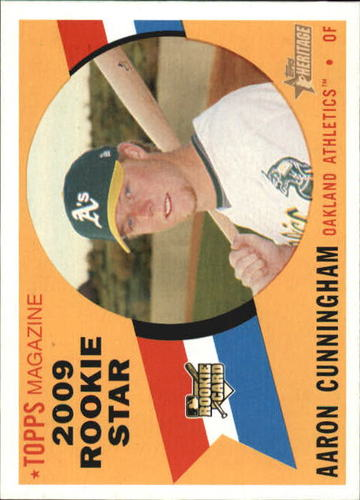 Photo of 2009 Topps Heritage #147 Aaron Cunningham RC
