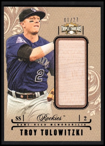 Photo of 2014 Topps Triple Threads Unity Relics Sepia #UJRTT Troy Tulowitzki