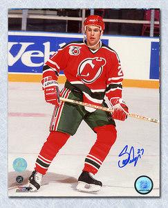 Scott Niedermayer New Jersey Devils Autographed Rookie Retro Jersey 8x10 Photo
