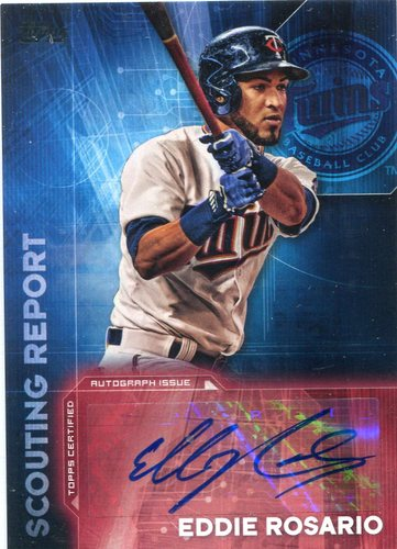 Photo of 2016 Topps Scouting Report Autographs #SRAER Eddie Rosario UPD