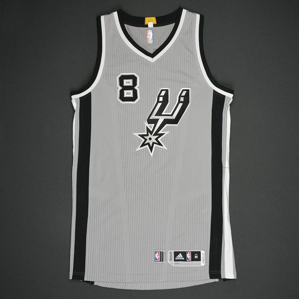 Patty Mills - San Antonio Spurs - Gray Playoffs Game-Worn Jersey - 2016-17 Season