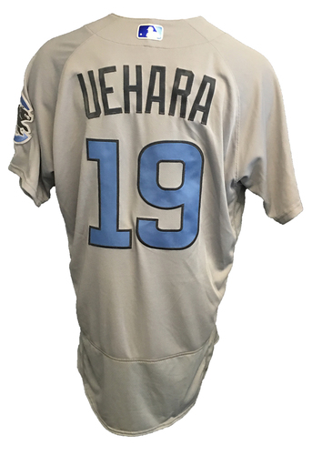 Photo of Koji Uehara Game-Used Father's Day Jersey -- Cubs vs Pirates -- 6/17/17