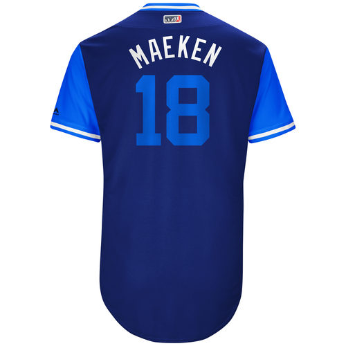 """Photo of Kenta """"Maeken"""" Maeda Los Angeles Dodgers Game-Used Players Weekend Jersey"""